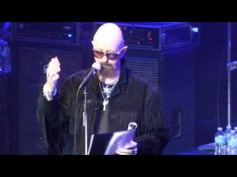 "Rob Halford presented with ""Man On The Silver Mountain"" award @ The Avalon Hollywood,CA. 2014"