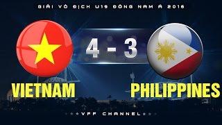 vietnam 4-3 philippines  highlights