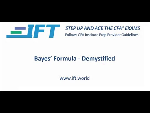 Level I CFA Bayes' Formula Demystified