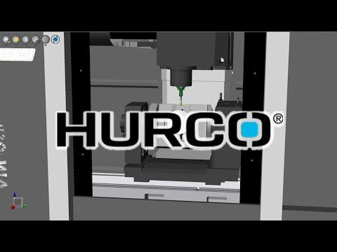 HURCO VM10Ui Machine Tool CNC Simulation with NCSIMUL