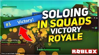 Soloing in Squads *Victory* Roblox Gameplay (Island Royale)