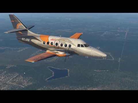 xplane 11, BAe JS 32: Flying into Seattle
