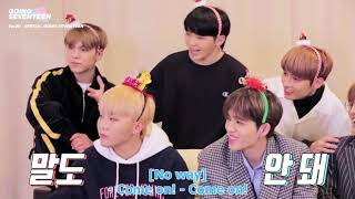 SEVENTEEN Imitiating each other compilation