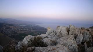 View of the sea of Galilee from Mount Arbel.