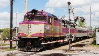 MBTA Detour Train in Worcester, MA