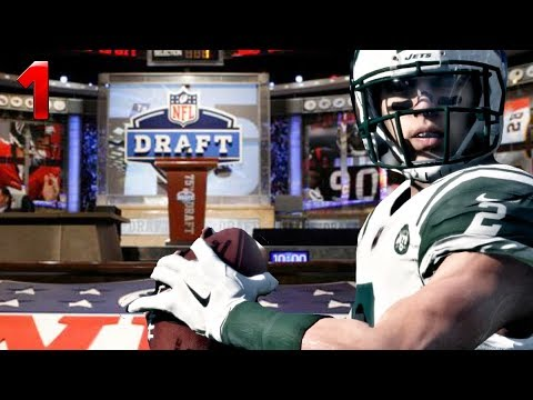 GETTING SELECTED FIRST OVERALL IN NFL DRAFT! (Madden 18 Franchise) #1