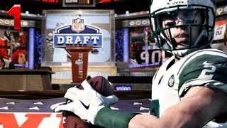 GETTING SELECTED FIRST OVERALL IN NFL DRAFT! (Madden 18 Franchise) #1 2017 Video