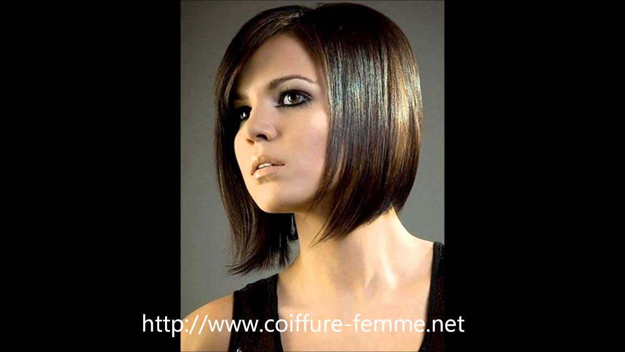 coiffure carr plongeant les meilleures mod les de coupe pour femme youtube. Black Bedroom Furniture Sets. Home Design Ideas