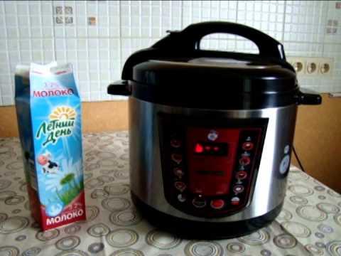 Топленое молоко в скороварке мультиварке