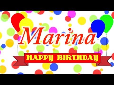 Happy Birthday Marina Song