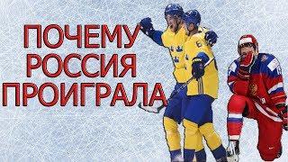 Почему Россия проиграла Швеции ? Чемпионат мира по хоккею 2018