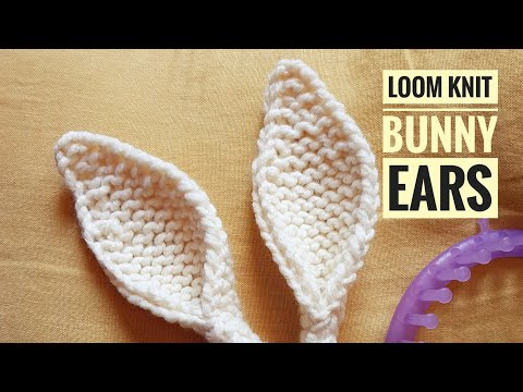 How To Loom Knit Bunny Ears (DIY Tutorial)