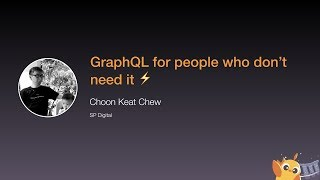GraphQL for people who don't need it - iOS Conf SG 2020