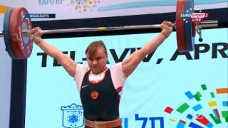 ЧЕ 2014 по Тяжелой Атлетике Тель-Авив женщины свыше 75кг