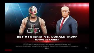 WWE 2K19 Rey Mysterio VS Donald Trump 1 VS 1 No Holds Barred Match