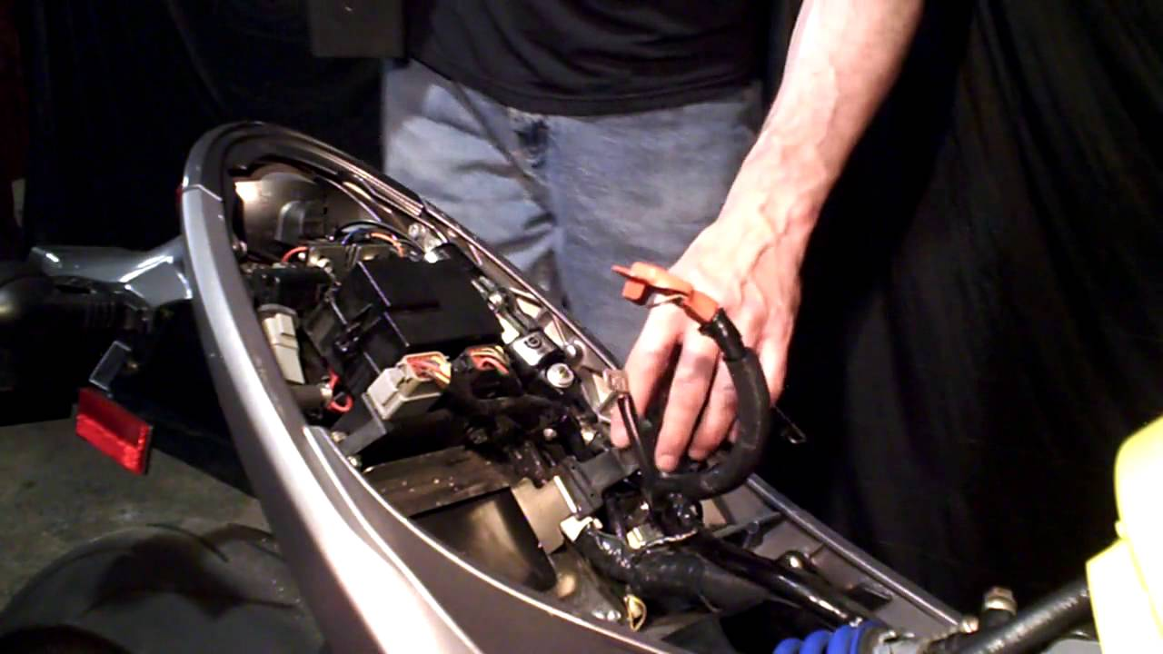 Buell Xb Battery Remove And Replace Youtube