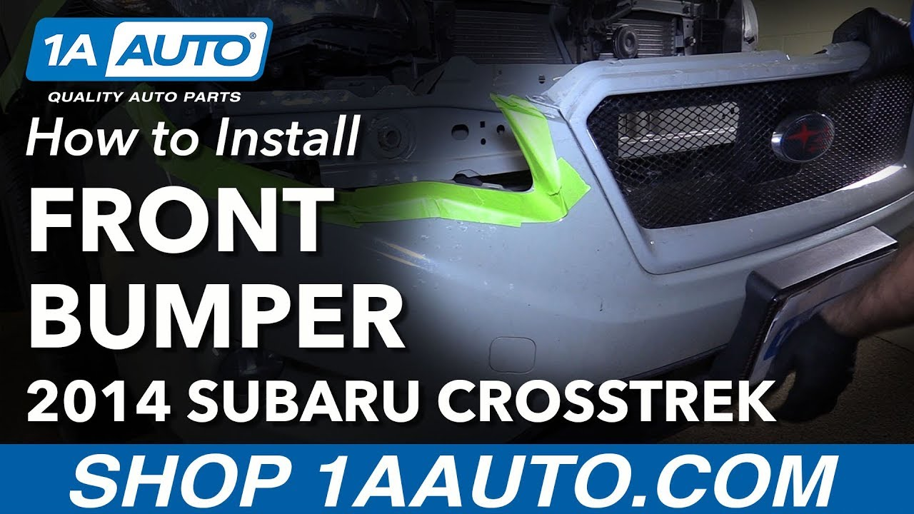 How to Replace Front Bumper 14-17 Subaru XV Crosstrek