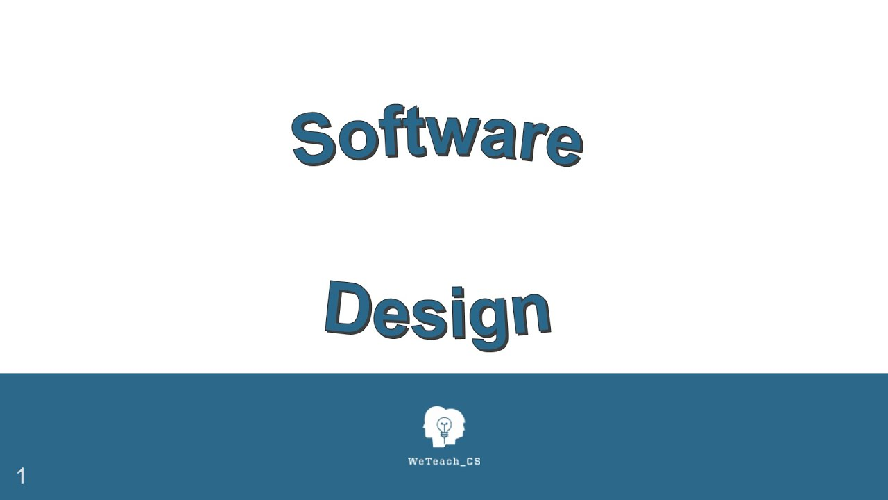 essays software design Code as design: three essays by this simple assertion gives rise to a rich discussion—one which reeves explores fully in these three essays what is software.