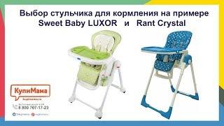 Выбор стульчика для кормления на примере Rant Crystal и Sweet Baby Luxor