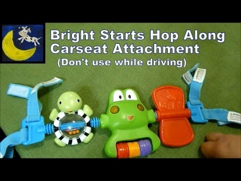 Review Bright Starts Hop Along Frog Car Seat Attachment Toy Bar