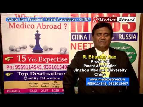 President of Parents Association-China, speaks about MBBS in China