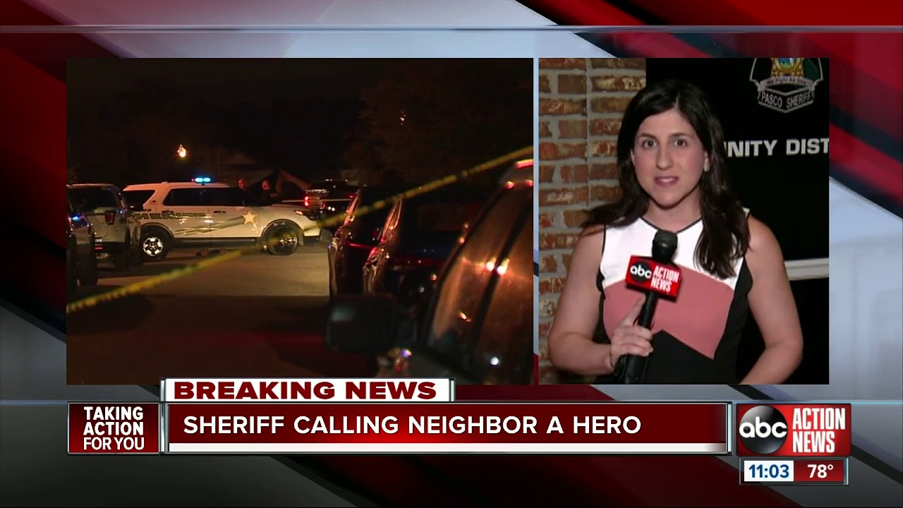 Pasco Sheriff calls neighbor a hero after shooting domestic violence suspect