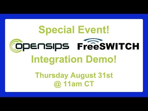 OpenSIPs and FreeSWITCH Integration demo