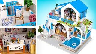 DIY Rumah Boneka Miniatur Kota Biru