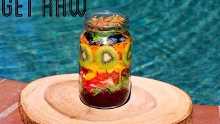Get Raw- Rainbow Salad In A Jar!