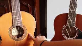 Las tres cuerdas graves. Diferencia entre española y acustica. Curso basico guitarra 4.