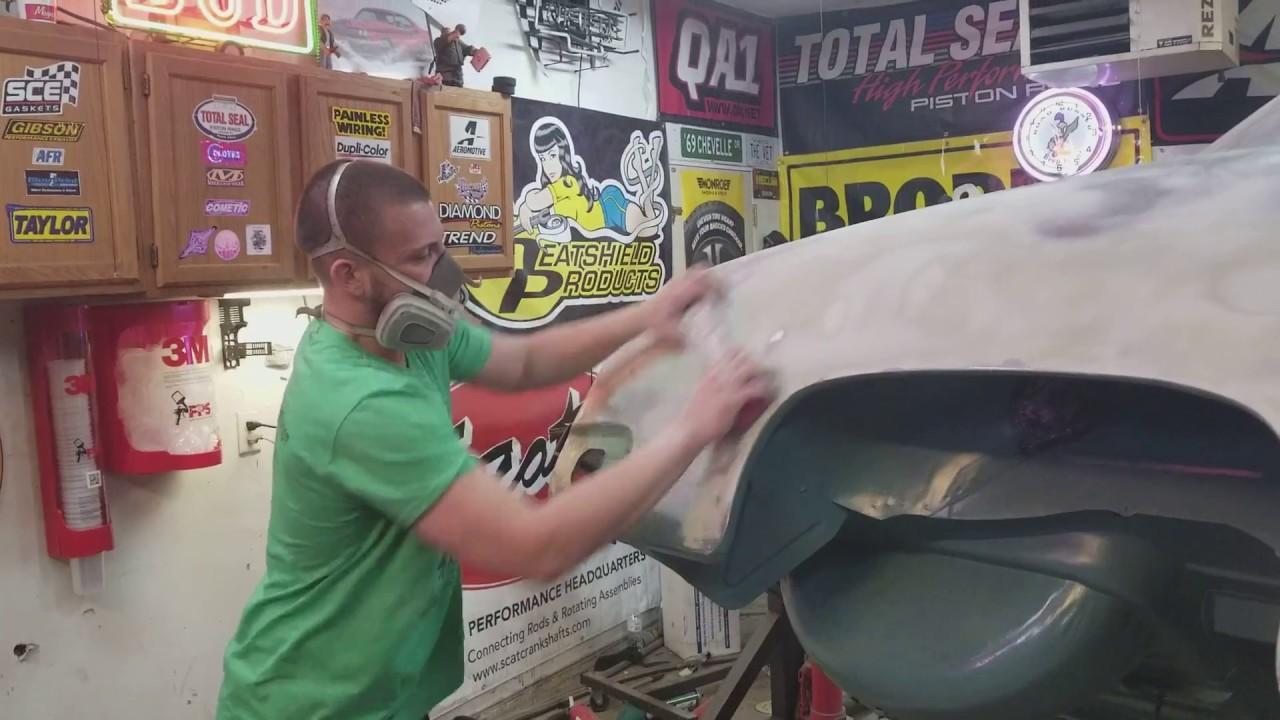 Prepping for epoxy primer