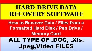 Hard drive Data Recovery ,Disk recovery , Data recovery services, disk recovery software