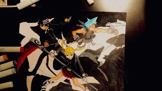 Soul Eater speed drawing