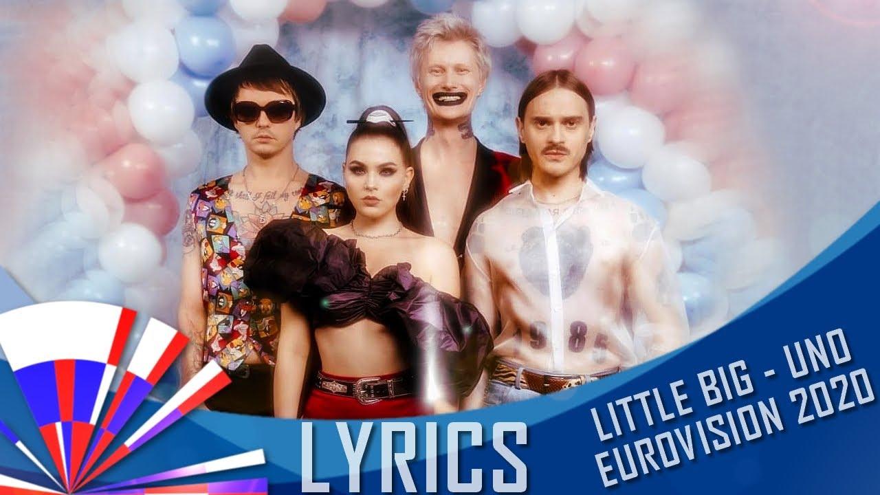 LITTLE BIG - UNO - LYRICS (EUROVISION 2020 RUSSIA)