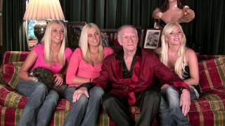 Playboy Hugh Hefner and new girlfriends talk 'Girls Next Door'