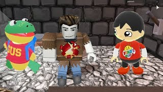 Tag with Ryan - Red T-Shirt Ryan vs Roblox Escape The Dungeon Obby
