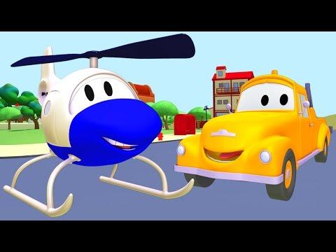 Tom der Abschleppwagen und Der Hubschrauber in Car City |Lastwagen Bau-Cartoon-Serie fûr Kinder 🚚🚁