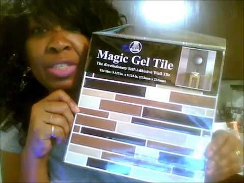 Family Dollar Store Magic Gel Tile Kitchen Wall Makeover YouTube - Family dollar bathroom makeover