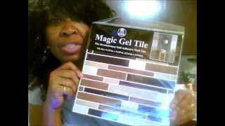 Family Dollar Store - Magic Gel Tile Kitchen Wall Makeover