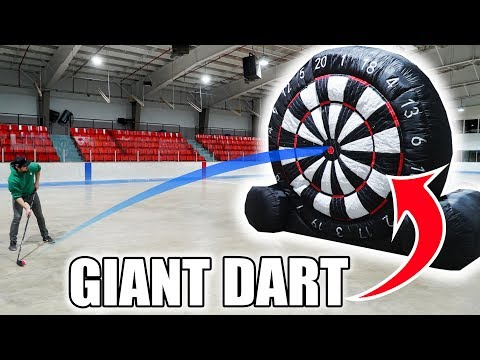 GIANT Hockey-Dart Trick Shots Competition | SweetSpotSquad