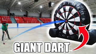 GIANT Hockey-Dart Trick Shots Competition | SweetSpotSquad