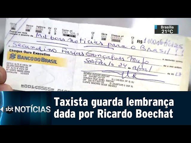 Taxista guarda lembrança dada por Ricardo Boechat | SBT Notícias (12/02/2019)