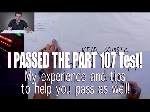I Passed the FAA Part 107 AKT Test! My tips to help you pass uas drone