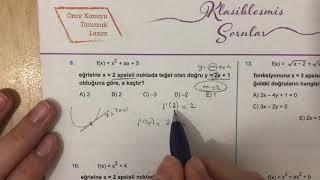 345 AYT Matematik TÜREV-2 Test-1 Anlatımlı Çözümleri (2018-2019 basım)