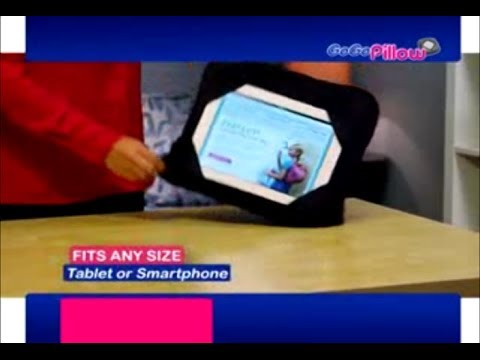GoGo Pillow Commercial GoGo Pillow As Seen On TV Pillow For Your Tablet | As Seen On TV Blog