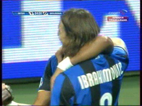 Inter - Bologna Zlatan Ibrahimovic goal