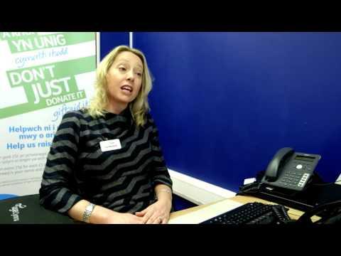 Lucy Owen visits Age Cymru Pontypridd