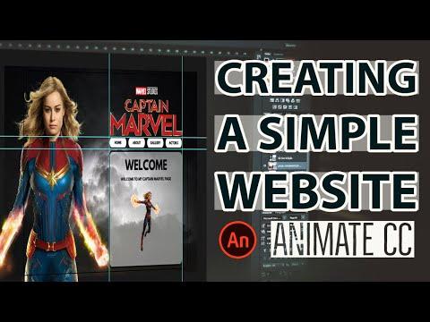 Creating A Simple Website Using Adobe Animate CC