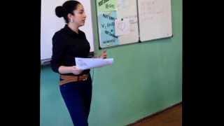 Урок английского языка в 330 школе. Учитель Абрамова ЮА
