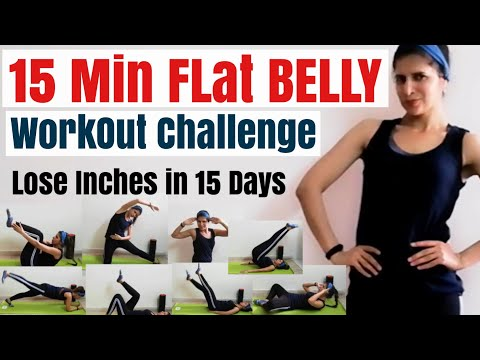15 MIN Flat Belly Workout At Home | 15 Days Challenge To Lose Inches With Full Core Exercise Routine